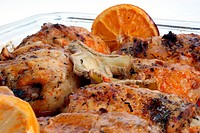 grilled chicken thighs with orange and lemon