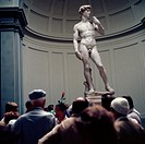 Florence. Italy. Michelangelos David in the Galleria dell´Accademia.