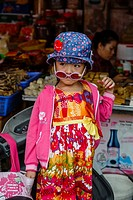 Young girl at the Can Tho Market, Mekong Delta, Vietnam.