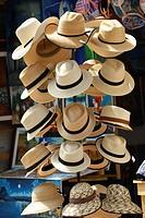 Hats for sale in Santiago de Atitlan, Guatemala, Central America.