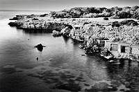 Fishing houses Cala Comte, Ibiza.