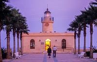 Lighthouse,Roquetas de Mar.Almeria province, Andalucia, Spain.