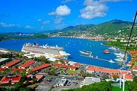 Cruising Southern Caribbean on the Norwegian Getaway at St. Thomas Virgin Island cruise ship.