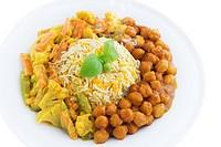 Vegetarian biryani rice or briyani rice, fresh cooked with steam, delicious indian food.