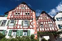 Timbered houses in Ediger-Eller, Rhineland-Palatinate, Germany, Europe