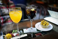 Aperitif at restaurant, Granada, Spain.
