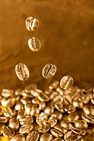 Golden cafe - coffee beans