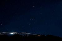 Night panorama of Montafon, Austria