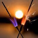 The sun between fires
