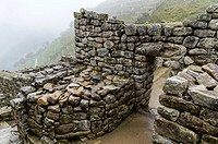 Archaeological site of Machu Picchu, Cusco, Peru.Hanan sector.