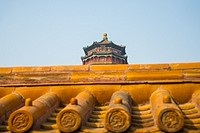 roof detail at summer palace at beijing china