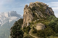 San Juan y San Pablo romanesque century XI hermitage. Tella, huesca Pyrenees, Spain, Europe.