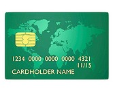 Credit card and green map