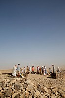 Pilgrimage in Holy Land, Catholic mass in Judean desert.