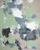 Green and Beige Abstract Art