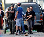 """Actress Rachel McAdams got hurt while filming an intense scene for the hit show """"""""True Detective"""""""" filming in downtown Los Angeles. Rachel seen holdin..."""