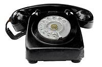 Old vintage phone isolated on white background