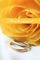 yellow rose card - print and post - bridesmaid