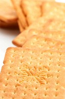 Heap of crackers close-up