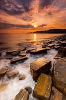 Dramatic skies on Dorset coastline