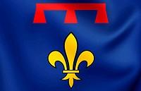 Flag of Provence, France.