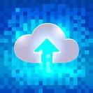 Uploading active cloud icon
