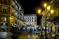 Plaza de Sas by Night, Saragossa, Spain.
