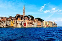 The City of Rovinj on Istria Peninsula in Croata Lit By Sun
