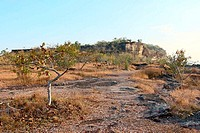 View lanscape of Pha Taem National Park in the Ubon Ratchathani , Thailand