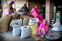 India, Rajasthan, Jodhpur, daily life, market.