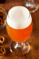 Refreshing Belgian Amber Ale Beer