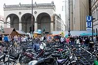 Hofgarten Arch, Odeonsplatz in Munich, Germany on May 16, 2015. Street Festival, bike, biking. (CTK Photo/Krystof Kriz)