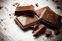 broken pieces of chocolate