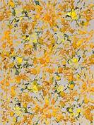 Yellow chalk art