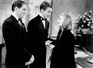 James Ellison, James Stewart, Ginger Rogers, on-set of the Film Vivacious Lady, 1938