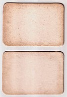 vintage paper card on white background