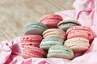 Shabby Chic Background with Macaron
