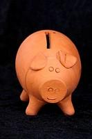 terracotta money box