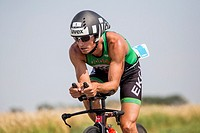 Model triathlon, part of the Czech triathlon cup, in Opava, Czech Republic, on July 18, 2015. Filip Ospaly during the cycling part. (CTK Photo/Frantis...