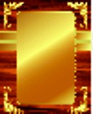 Metallic gold frame on a wooden background 4