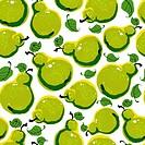 Pears seamless pattern.