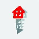 realistic design element: house, building, key