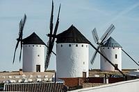 Windmills, Campo de Criptana, Ruta de Don Qujiote, Ciudad Real province, Castilla-La Mancha, Spain