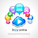 Stay online poster