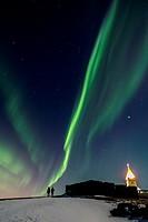 Kopavagur sky by Night, Iceland.