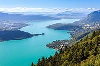 Lac d´Annecy, Haute-Savoie, Rhône-Alpes, France.