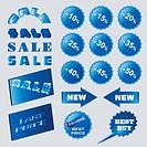 Blue sale design elements