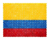 Colombian Flag made of plastic pearls