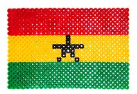 Flag of Ghana made of plastic pearls