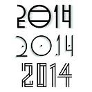 Vector elegant happy new year 2014 design
